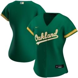 Oakland Athletics Nike Women Alternate 2020 MLB Team Jersey Kelly Green