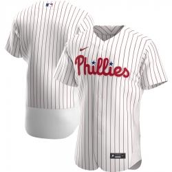 Men Philadelphia Phillies Men Nike White Home 2020 Flex Base Official Team MLB Jersey