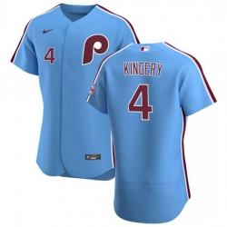 Philadelphia Phillies 4 Scott Kingery Men Nike Light Blue Alternate 2020 Authentic Player MLB Jersey