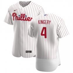 Philadelphia Phillies 4 Scott Kingery Men Nike White Home 2020 Authentic Player MLB Jersey