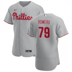 Philadelphia Phillies 79 JoJo Romero Men Nike Gray Road 2020 Authentic Player MLB Jersey