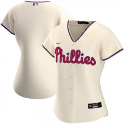 Philadelphia Phillies Nike Women Alternate 2020 MLB Team Jersey Cream