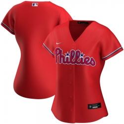 Philadelphia Phillies Nike Women Alternate 2020 MLB Team Jersey Red