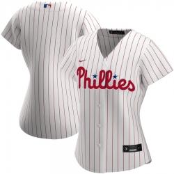Philadelphia Phillies Nike Women Home 2020 MLB Team Jersey White