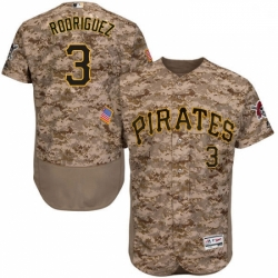 Mens Majestic Pittsburgh Pirates 3 Sean Rodriguez Camo Flexbase Authentic Collection MLB Jersey