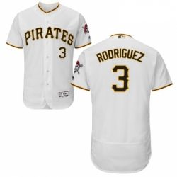 Mens Majestic Pittsburgh Pirates 3 Sean Rodriguez White Flexbase Authentic Collection MLB Jersey
