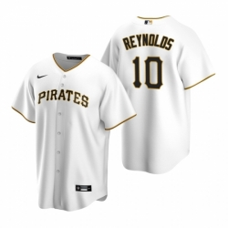Mens Nike Pittsburgh Pirates 10 Bryan Reynolds White Home Stitched Baseball Jersey