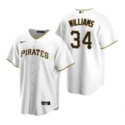 Mens Nike Pittsburgh Pirates 34 Trevor Williams White Home Stitched Baseball Jersey