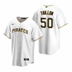 Mens Nike Pittsburgh Pirates 50 Jameson Taillon White Home Stitched Baseball Jersey