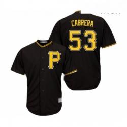 Mens Pittsburgh Pirates 53 Melky Cabrera Replica Black Alternate Cool Base Baseball Jersey