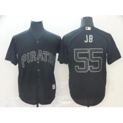 Pirates 55 Josh Bell JB Black 2019 Players 27 Weekend Player Jersey