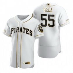 Pittsburgh Pirates 55 Josh Bell White Nike Mens Authentic Golden Edition MLB Jersey