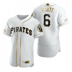 Pittsburgh Pirates 6 Starling Marte White Nike Mens Authentic Golden Edition MLB Jersey