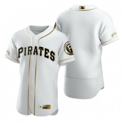 Pittsburgh Pirates Blank White Nike Mens Authentic Golden Edition MLB Jersey