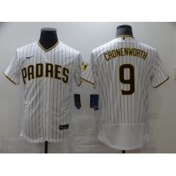 Men Nike San Diego Padres 9 CRONENWORTH white Stitichen Authentic Alternate Player Jersey