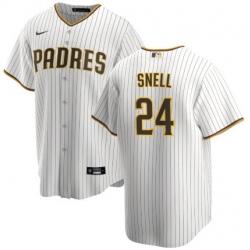 Men San Diego Padres 24 Blake Snell Coolbase White Jersey