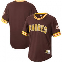 Men San Diego Padres Brown Pull Over Jersey