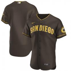 Men San Diego Padres Men Nike Brown Flex Base Alternate Team MLB Jersey