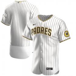 Men San Diego Padres Men Nike White Brown Flex Base Alternate Team MLB Jersey