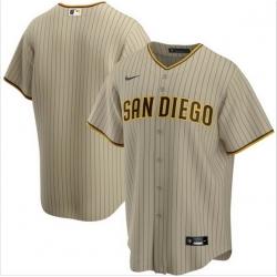 Men San Diego Padres Nike Brown Blank Jersey