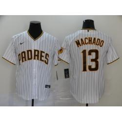 Padres 13 Manny Machado White Nike 2020 Cool Base Jersey