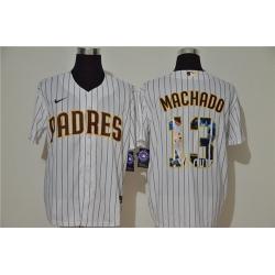 Padres 13 Manny Machado White Nike Cool Base Player Jersey