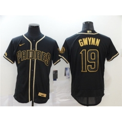 Padres 19 Tony Gwynn Black Gold 2020 Nike Cool Base Jersey