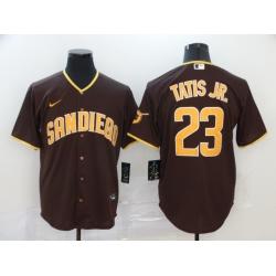 Padres 23 Fernando Tatis Jr  Brown Nike 2020 Cool Base Jersey