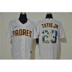 Padres 23 Fernando Tatis Jr  White Nike Cool Base Player Jersey