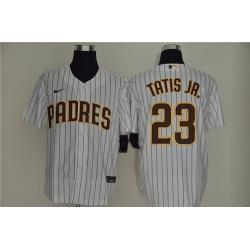 Padres 23 Fernando Tatis Jr  White Nike Cool Base Sleeveless Jersey