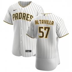 San Diego Padres 57 Dan Altavilla Men Nike White Brown Home 2020 Authentic Player Jersey