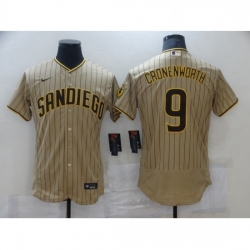 Women Nike San Diego Padres 9 Jake Cronenworth Sand Brown 2021 Road Player Jersey