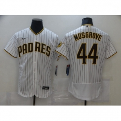 Women Nike San Diego Padres Joe Musgrove White Brown Collection Baseball Player Jersey