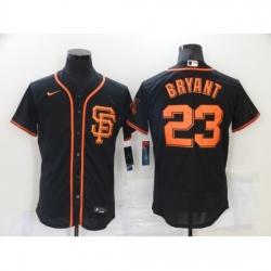 Men Nike San Francisco Giants 23 Kobe Bryant Black Elite Collection Jersey