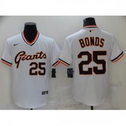 Men Nike San Francisco Giants 25 Barry Bonds White Fashion Baseball Jersey