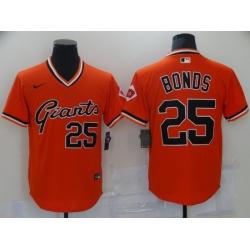 Men San Francisco Giants 25 Barry Bonds Orange Game Nike 2021 MLB Jersey