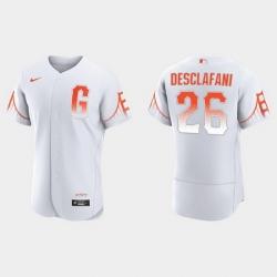Men San Francisco Giants 26 Anthony Desclafani Men 2021 City Connect Authentic White Jersey