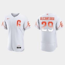 Men San Francisco Giants 29 Arismendy Alcantara Men 2021 City Connect Authentic White Jersey