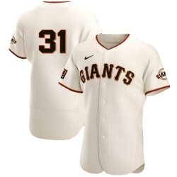 Men San Francisco Giants 31 LaMonte Wade Jr Cream 2021 Home Player Jersey