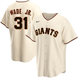 Men San Francisco Giants 31 LaMonte Wade Jr Cream 2021 Replica Home Jersey
