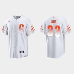 Men San Francisco Giants 33 Darin Ruf Men 2021 City Connect White Fan Version Jersey