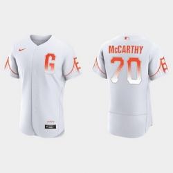 Men San Francisco Giants 70 Joe Mccarthy Men 2021 City Connect Authentic White Jersey