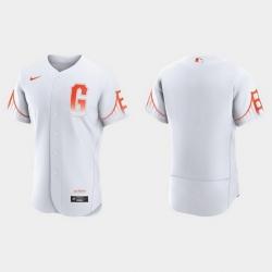 Men San Francisco Giants Men 2021 City Connect Authentic White Jersey