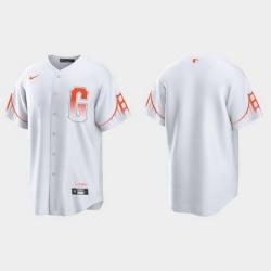 Men San Francisco Giants Men 2021 City Connect White Fan Version Jersey