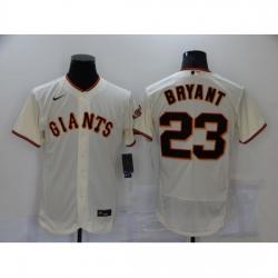 Men's Nike San Francisco Giants #23 Kobe Bryant Cream Elite Collection Jersey