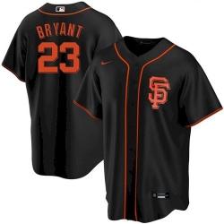 Men's San Francisco Giants #23 Kris Bryant Black Cool Base Nike Jersey