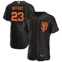 Men's San Francisco Giants #23 Kris Bryant Black Flex Base Nike Jersey