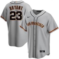 Men's San Francisco Giants #23 Kris Bryant Gray Cool Base Nike Jersey