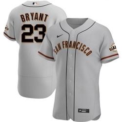 Men's San Francisco Giants #23 Kris Bryant Gray Flex Base Nike Jersey