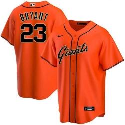 Men's San Francisco Giants #23 Kris Bryant Orange Cool Base Nike Jersey